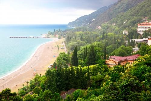 Красивый вид в Абхазии