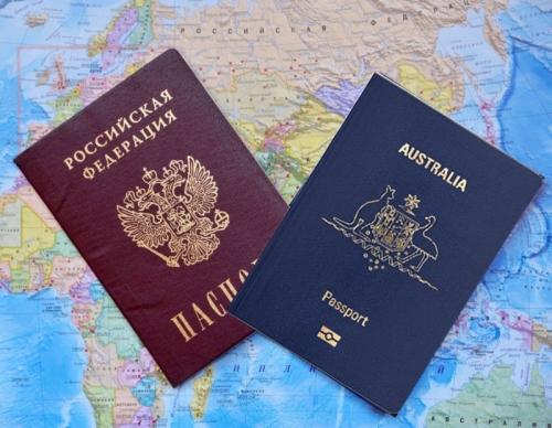Российский и австралийский паспорт