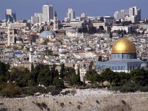 Вид на израильский город