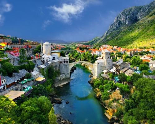 Красивый вид в Боснии и Герцеговине