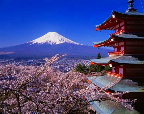 Красивый вид в Японии