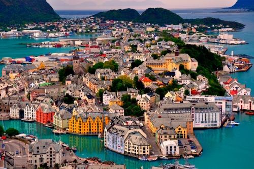 Вид на домики в Дании