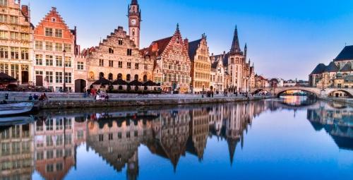 Красивый вид в Бельгии