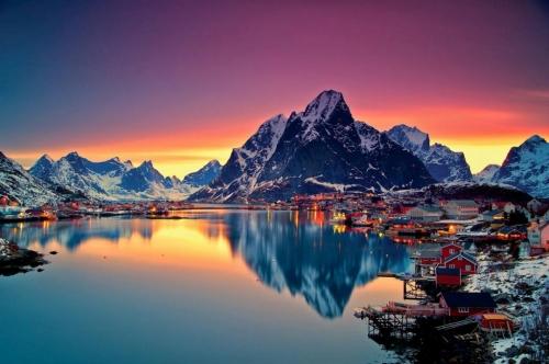 Красиый пейзаж в Норвегии