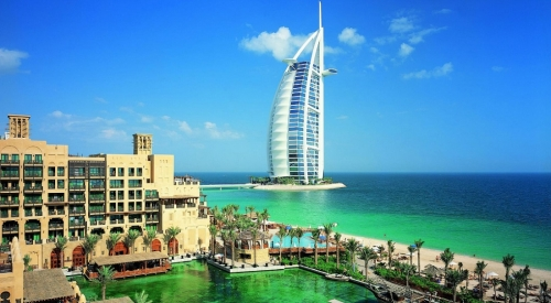 Красивый вид в Дубае