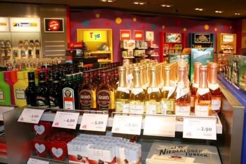 Алкоголь в Дьюти Фри