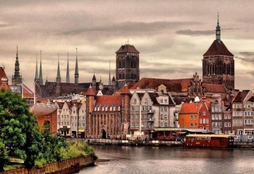 Красивый город в Польше