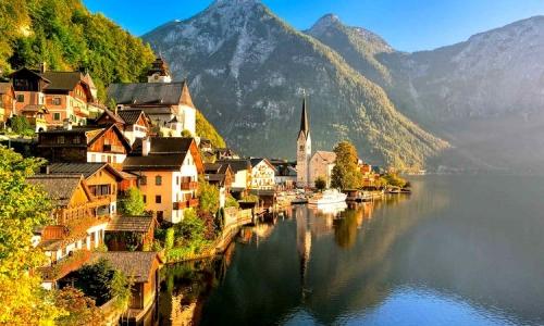 Красивые горы в Австрии