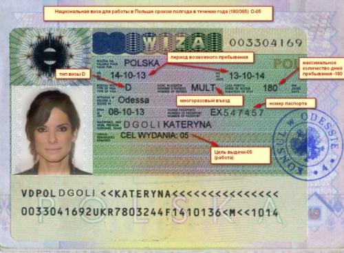 Рабочая виза для Польши