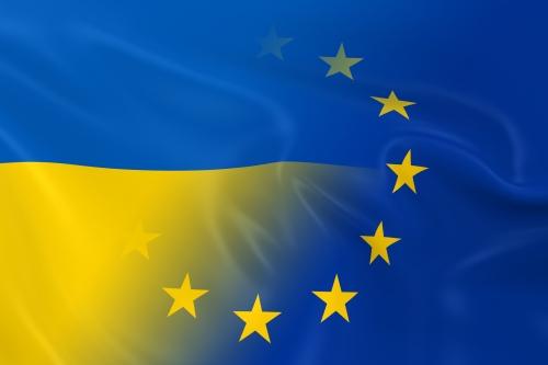 Флаг Украины и шенгена
