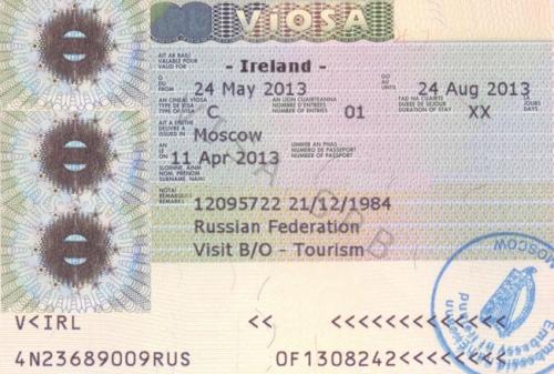 Ирландская виза