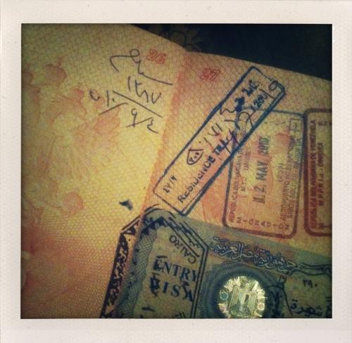 Штамп на продление визы