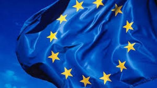 Флаг Шенгенского соглашения на ветру