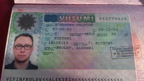 Документ для въезда в Финляндию